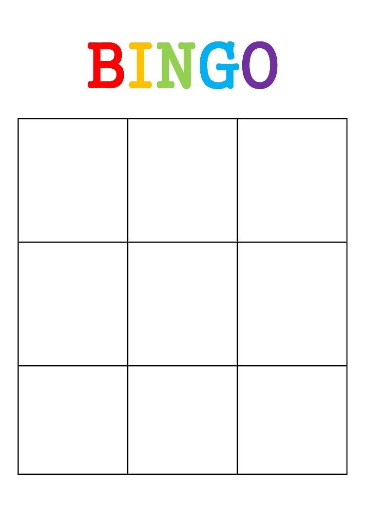 Colors amp shapes bingo