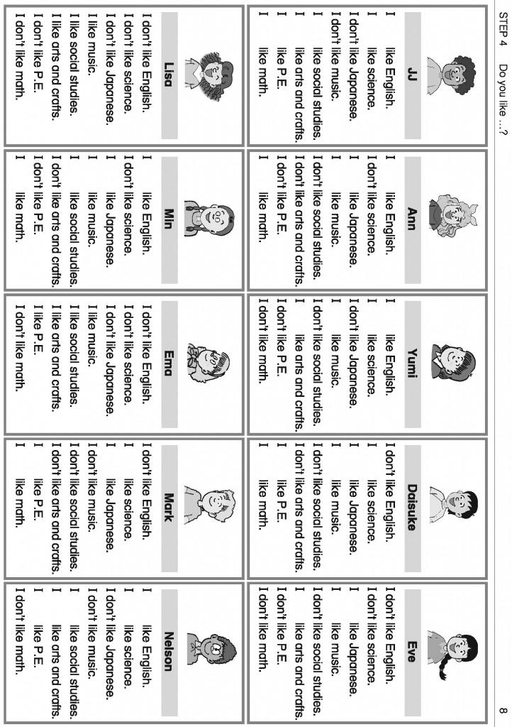Activity Card Sheets 4-2